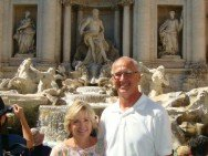 Sig and Nancy at the Trevi Fountain
